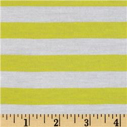 Yarn Dyed Jersey Knit Stripe Yellow/White
