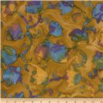 Indian Batik Tulips Brown
