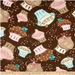 0262608 Fleece Cupcakes Chocolate