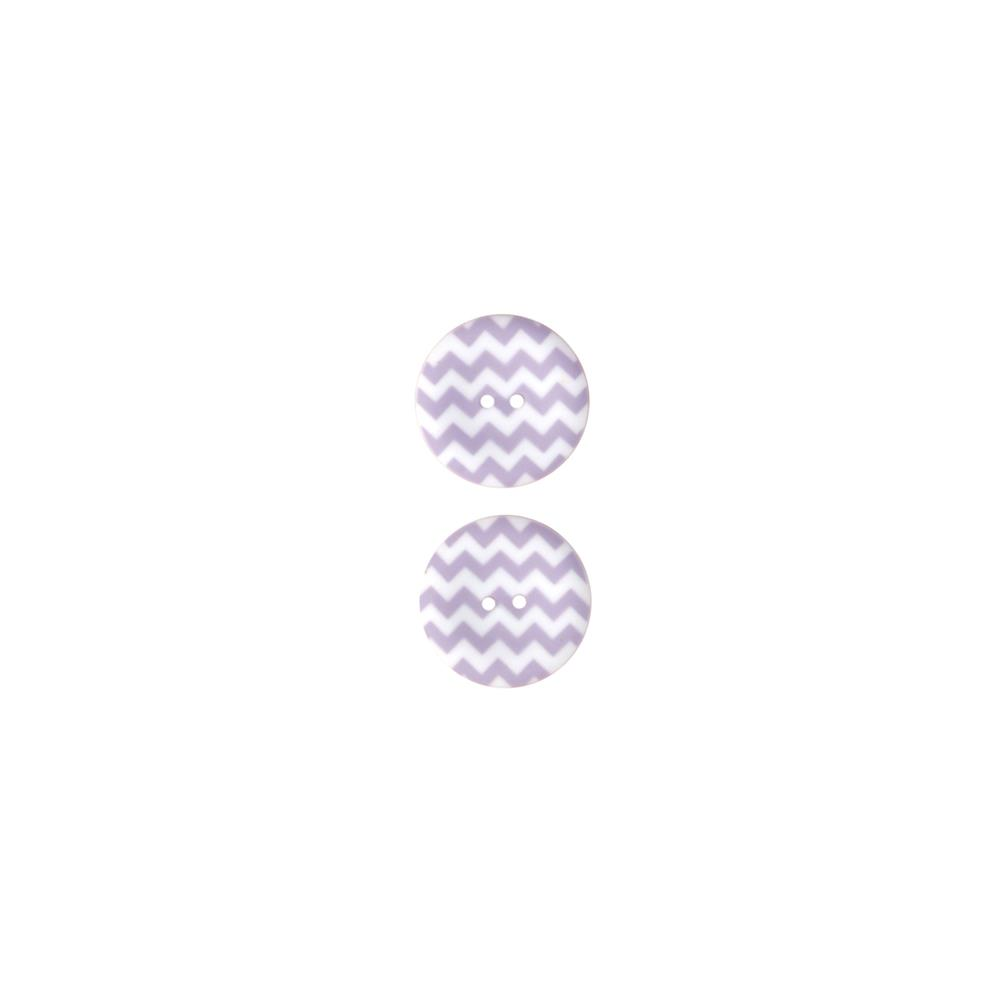 Riley Blake Sew Together 1 1/2 Matte Button Chevron Lavender