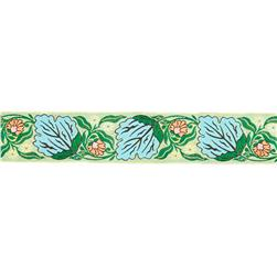 "1-1/2"" Amy Butler Alchemy Blossom Ribbon Blue"