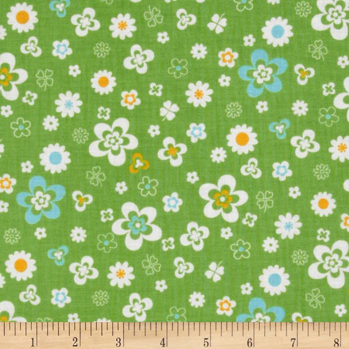Flower Sugar Retro Flowers Green