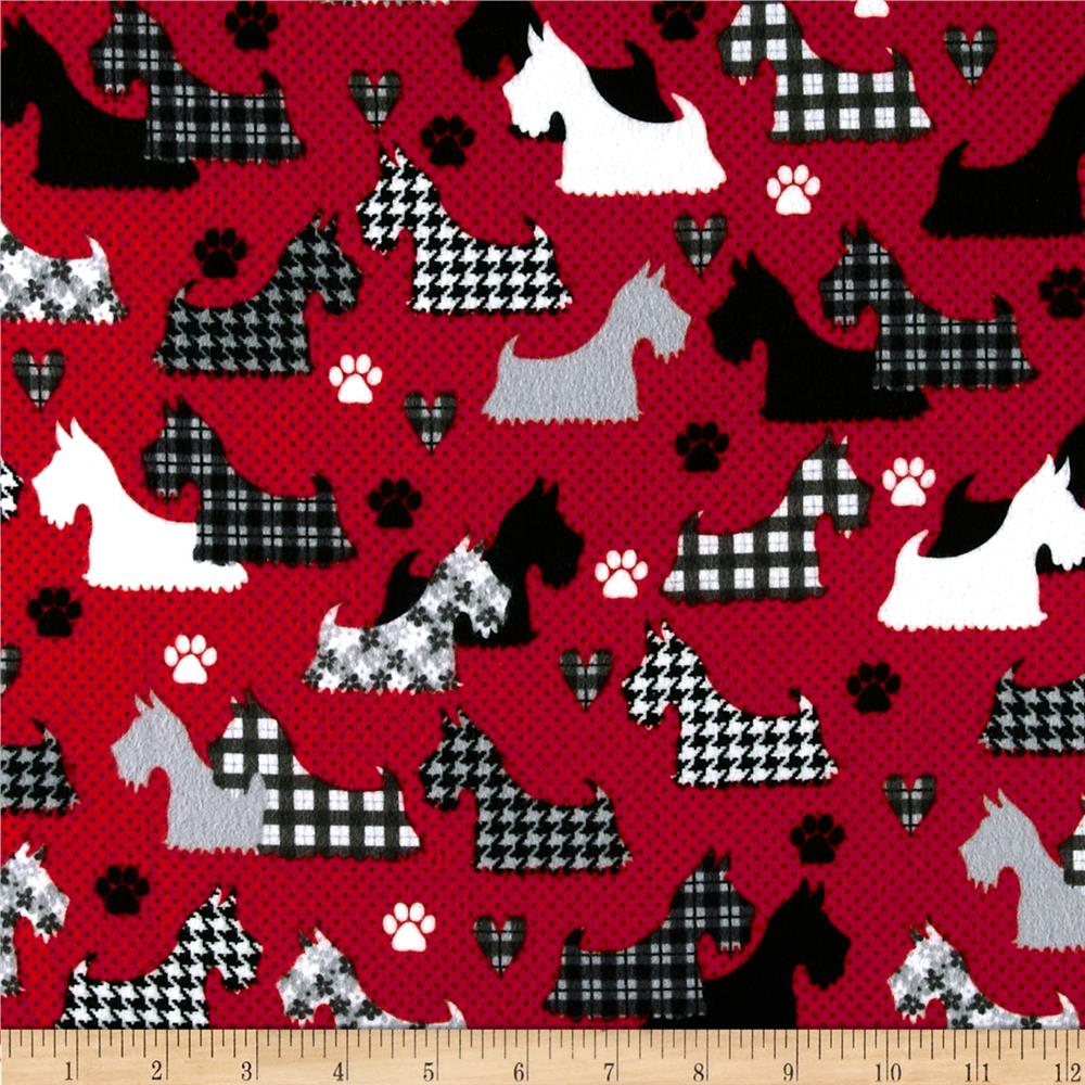 Great Scotts Flannel Scotties Red