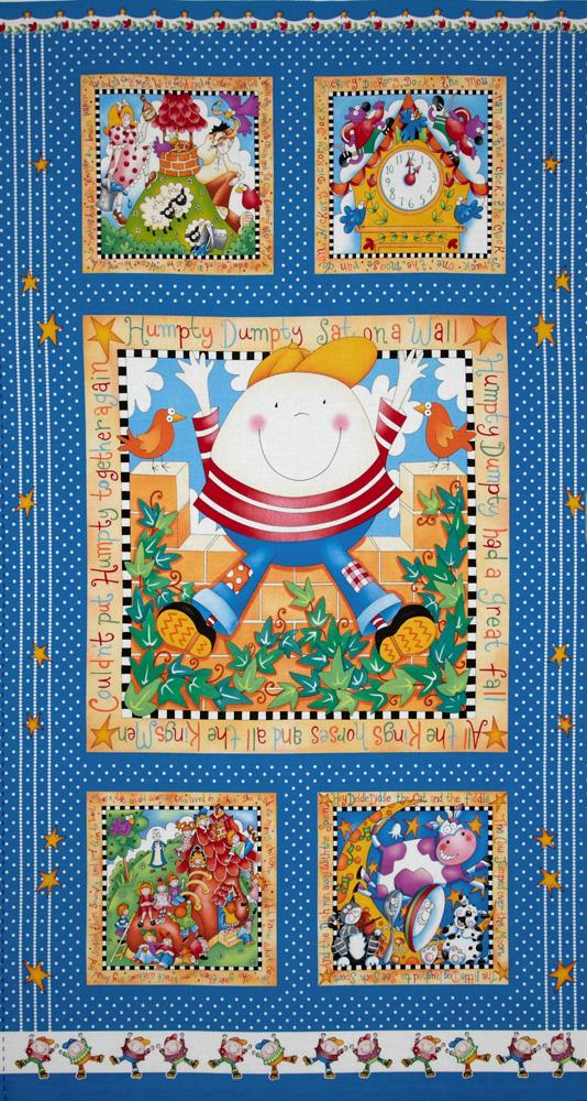Story Time Rhymes Humpty Dumpty Panel Blue