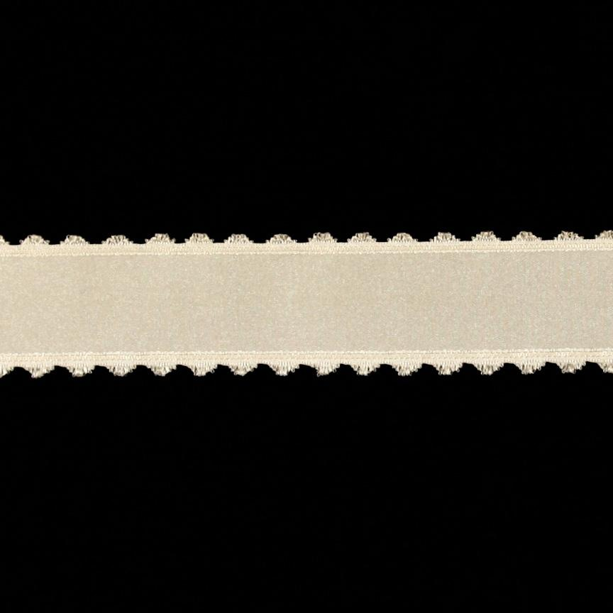 1.5&#39;&#39; Satin Scalloped Edge Ribbon Ivory