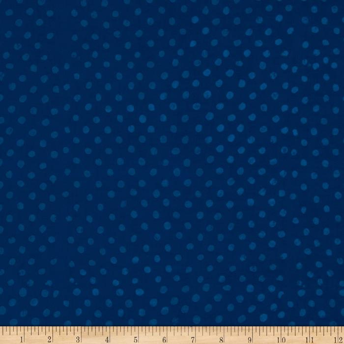 Indian Batik Eastside Pucker Dot Royal Blue