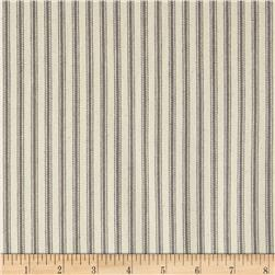 "44"" Ticking Stripe Twill Grey"