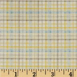 Baby Business Sweet Tweet Plaid Yellow/Grey