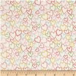 0300694 Celebration Love Hearts Metallic Cream/Multi