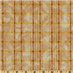 Autumn Leaves Plaid Gold