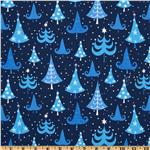 O' Tinsel Tree Whimsical Trees Navy