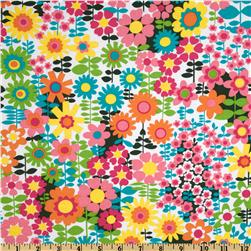 Michael Miller Sorbet Pop Garden White/Multi