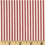0279824 Coastal Ticking Stripe Red