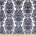 Minky Cuddle Damask Black/White