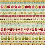 232366 Funky Fruit Border Stripe Multi