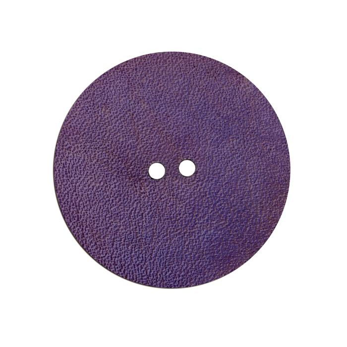 2'' Leather Button Round Purple