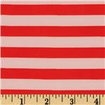 0266095 Stretch ITY Jersey Knit Stripe Red/Shell