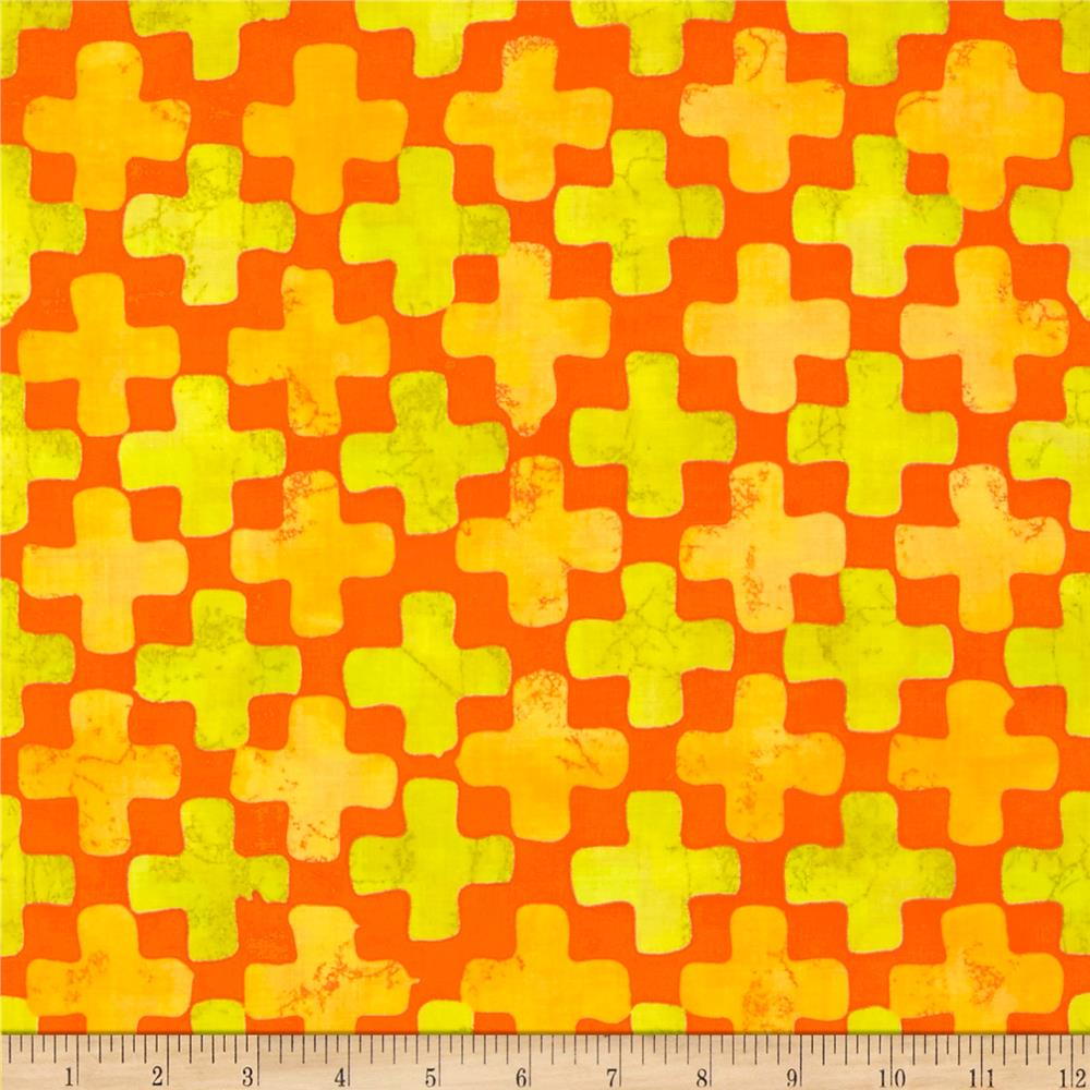 Moda Simple Marks Summer Fields Clementine
