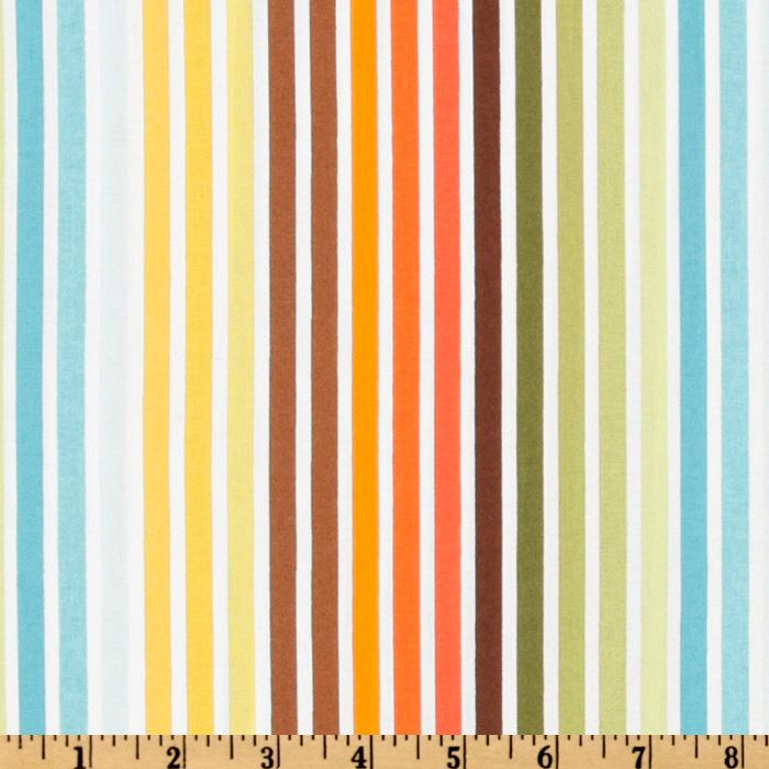 Remix Stripes Turquoise/Orange/Green
