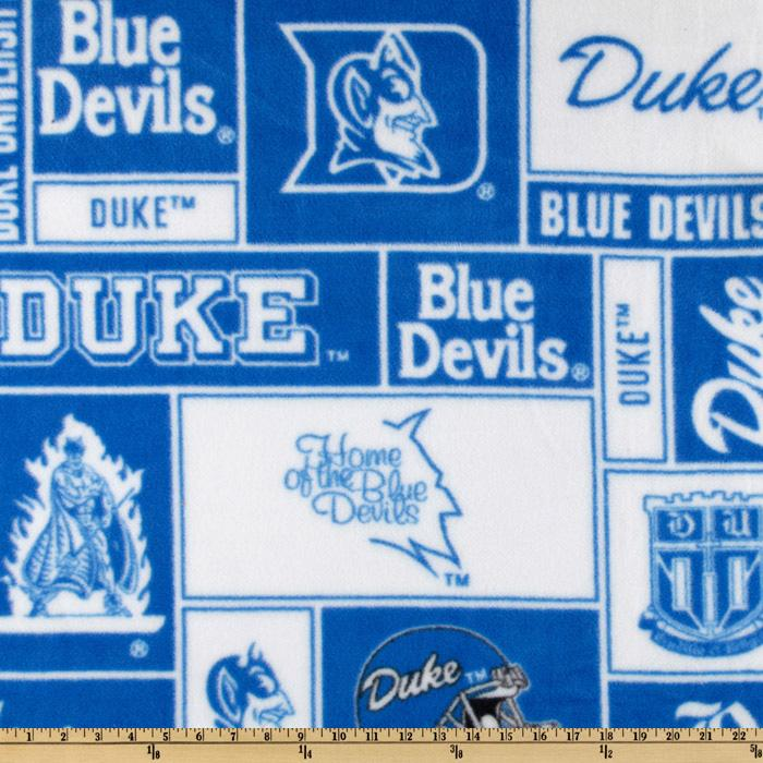 Collegiate Fleece Duke University Blocks