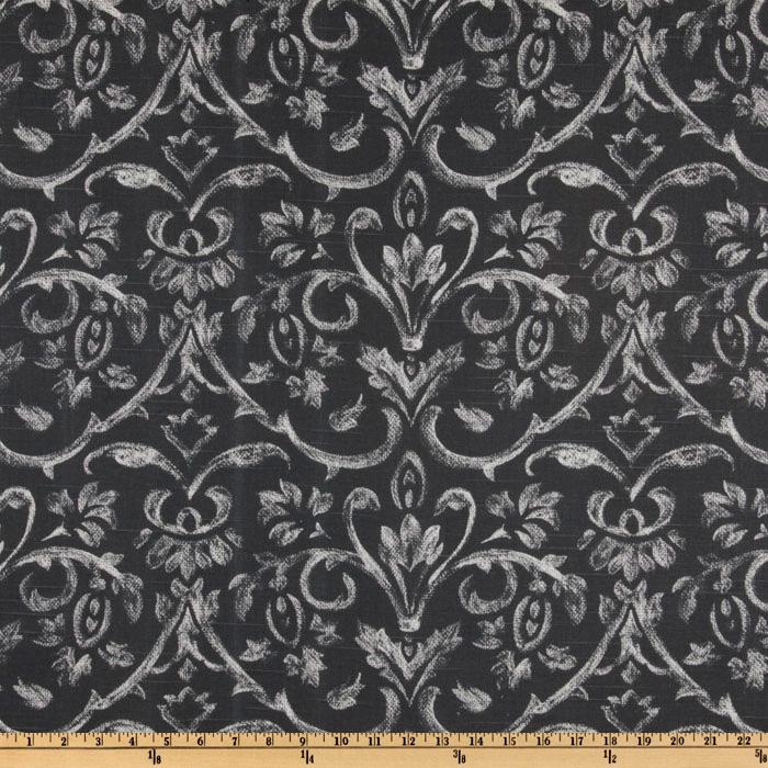 Premier Prints Tuscany Slub Charcoal
