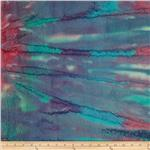 0269752 Indian Batik Wave Salted Plum/Teal/Fuchsia