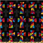 Stained Glass Crosses Black