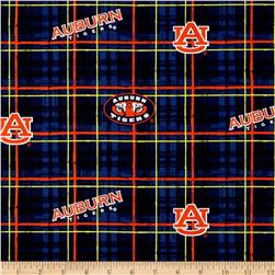 Collegiate Cotton Broadcloth Auburn University Plaid Blue