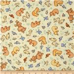 Little Forest Flannel Forest Animals Sun Yellow