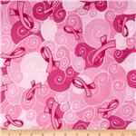 0267539 Minky Softie Ribbons Pink
