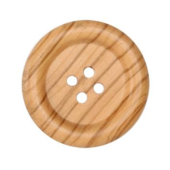 Genuine Wood Button 1 5/8'' Forest Natural