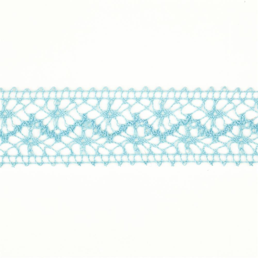 "1 1/2"" Crochet Lace Ribbon Light Blue"