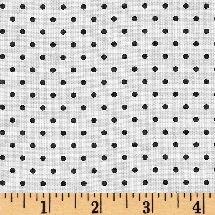 Moda Shades Of Black Dotted Swiss White
