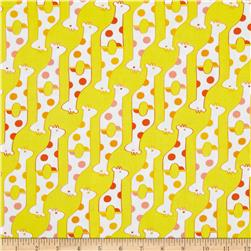 Savanna Bop Giraffes Yellow