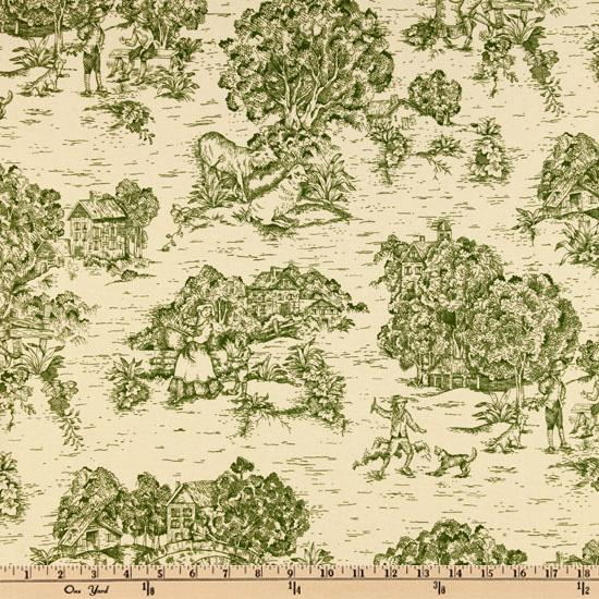 Pastoral Toile Green/Ivory