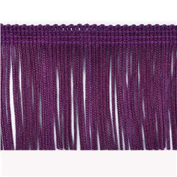 "4"" Chainette Fringe Trim Purple"