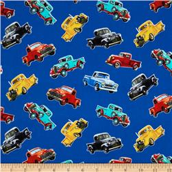 Vintage Pickup Trucks Blue
