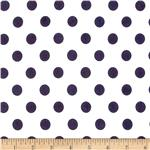 0296565 Stretch ITY Jersey Knit Large Dots White/Navy