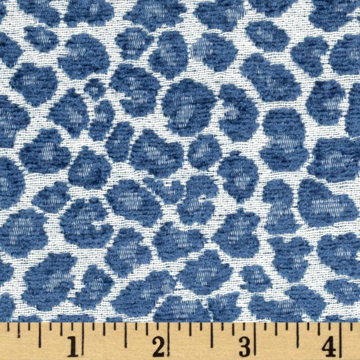 Golding Fabrics Spots Chenille Jacquard Azure