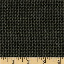Designer Stretch Brushed Suiting Houndstooth Navy