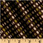 Designer Sheen Shirting Dots Lime/Brown