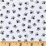 Michael Miller Paw Prints Gray
