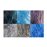 Angelina Straight Cut Fiber Stormy Sky 6 Piece Assortment