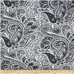 UR-924 Premier Prints Paisley Black/White