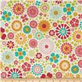 Riley Blake So Happy Together Large Tossed Floral White