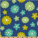 0262939 Celia Be Happy Floral Blue