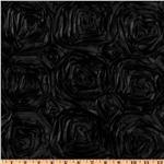 UN-026 Splenda Satin Ribbon Rosette Black
