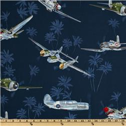 Tropicals and Conversationals Planes Navy