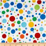 0267542 Minky Softie Dots White