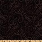 108'' Quilt Backing Complementary Paisley Black